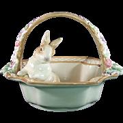 Fitz and Floyd Botanical Bunny Basket