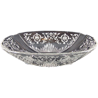 Fostoria Navarre Clear Flame Oval Bowl