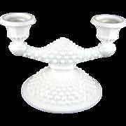 Fenton Hobnail Milk Glass Double Candlestick