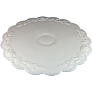 Westmoreland Paneled Grape Milk Glass Low Cake Stand