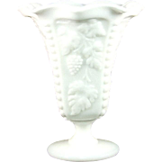 Westmoreland Paneled Grape Footed Crimped Bud Vase