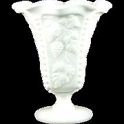 Westmoreland Paneled Grape Footed Crimped Bud Vase
