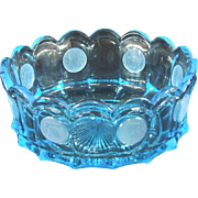 Fostoria Coin Glass Older Blue Round Bowl