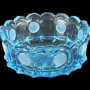 Fostoria Coin Glass Older Blue Round Bowl