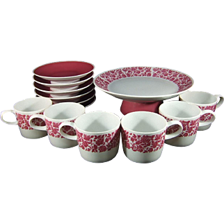 Narumi Japan Restaurant Ware 13 Piece Dessert Set