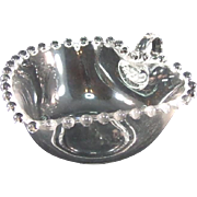 Imperial Candlewick Crystal Heart Shaped Dish with Handle