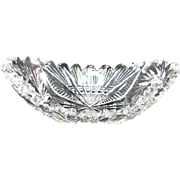 Cut Glass Small Crystal Dish