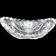 Cut Glass Small Crystal Dish