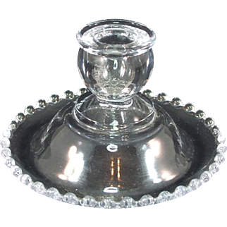 Imperial Candlewick Crystal Single Candlestick