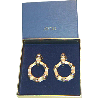 Avon Bamboo Circle Earrings