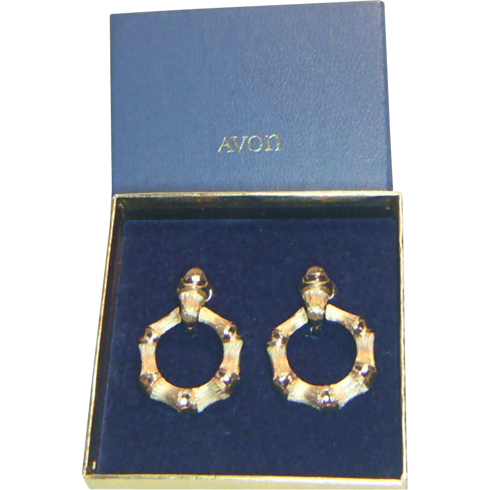 Avon Bamboo Circle Earrings