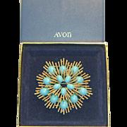 Avon Starburst Brooch
