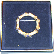 Avon Bamboo Circle Brooch