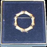 Avon Bamboo Circle Brooch