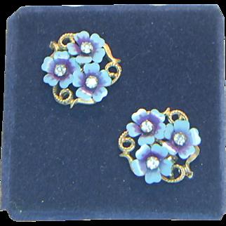 Avon 1972 Love Blossoms Earrings on Card