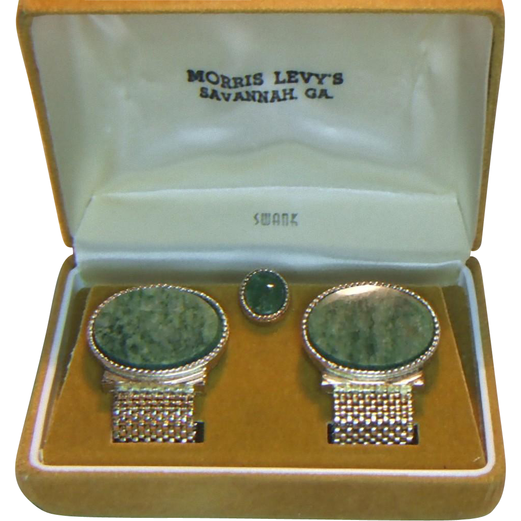 Swank Cufflinks and Tie Tack in Original Store Box