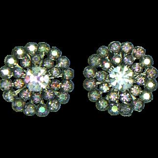 Weiss AB Clip Earrings