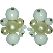 Carnegie Bead Clip Earrings