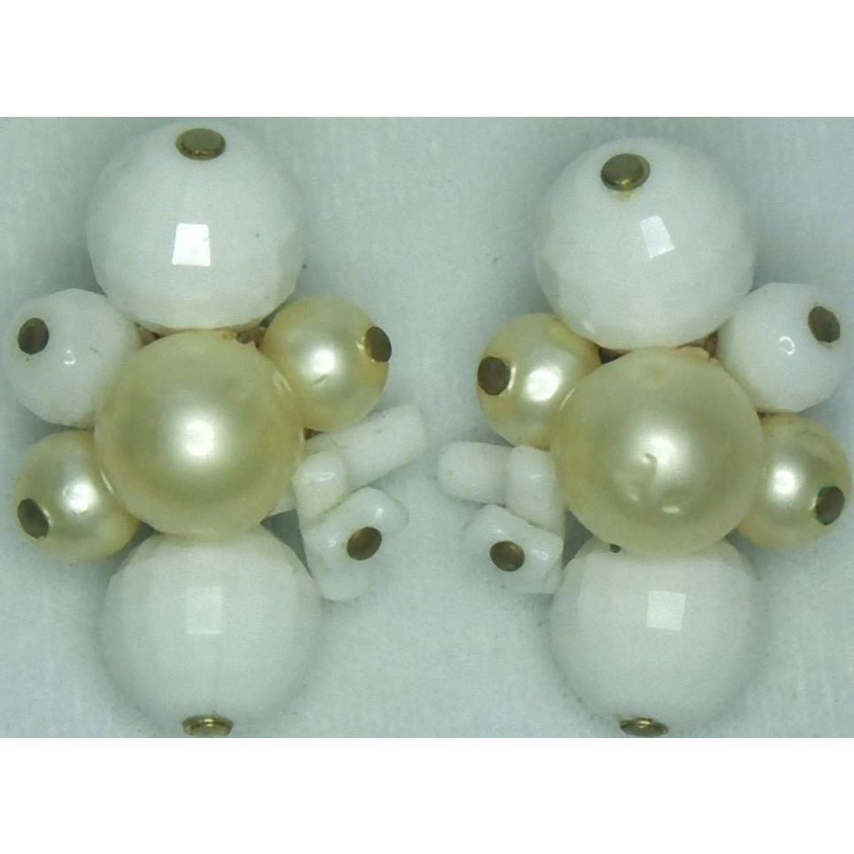 Carnegie Bead Clip Earrings
