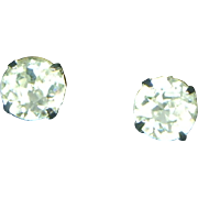 Eisenberg Crystal Rhinestone Clip Earrings