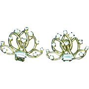 Hobe Clear Rhinestone Clip Earrings