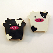 Piggies on Parade Plastic Scatter Pins