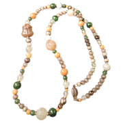 Multi Colored Jade and Agate Necklace