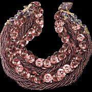 Large Purple Sandor Necklace