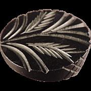 Large Deep Carved Bakelite Button