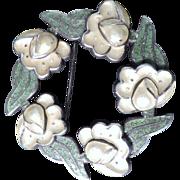 Margot de Taxco Floral Enamel Brooch