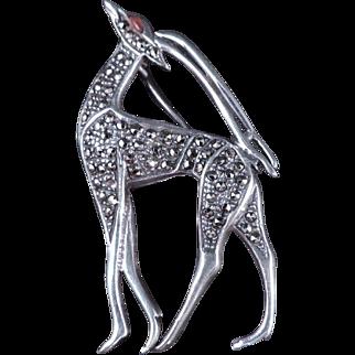 Sterling Marcasite Antelope