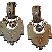 Victorian Etruscan Revival Earrings