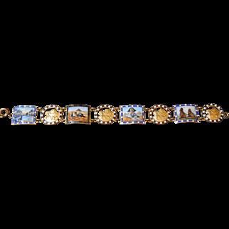 Vintage Egyptian Enamel Bracelet