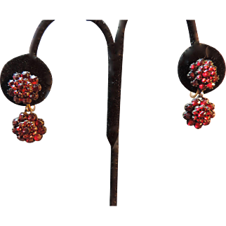 Bohemian Garnet Drop Earrings