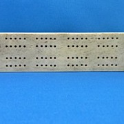 Bone Cribbage Board with Copper End