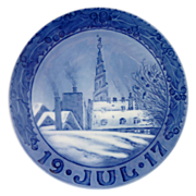 Royal Copenhagen 1917 Christmas Plate