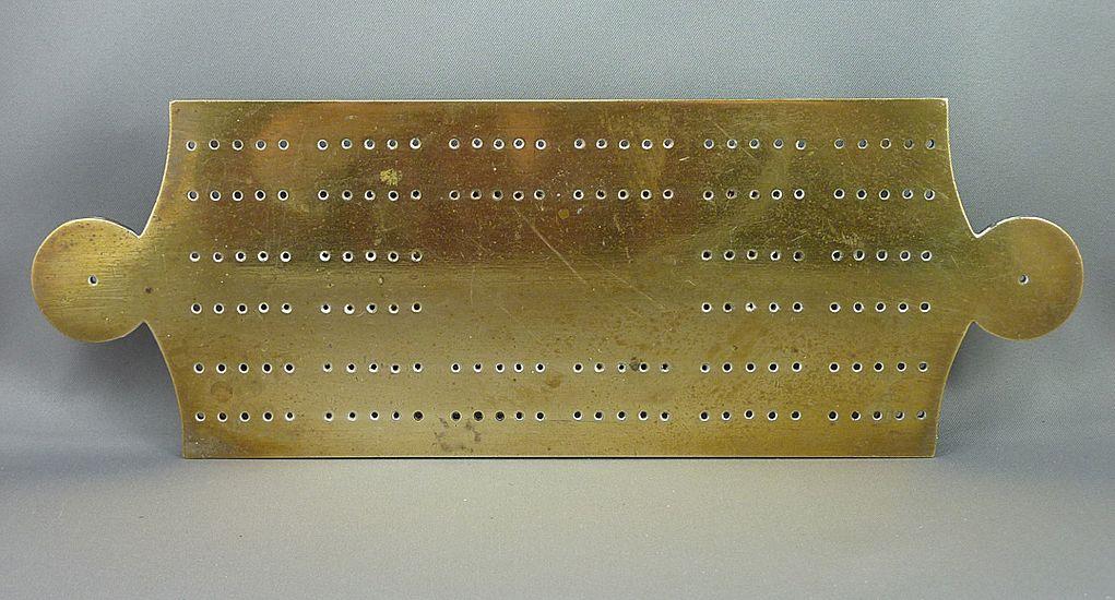 Brass cribbage Board