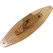 Handmade Battleship/Destroyer Cribbage Board