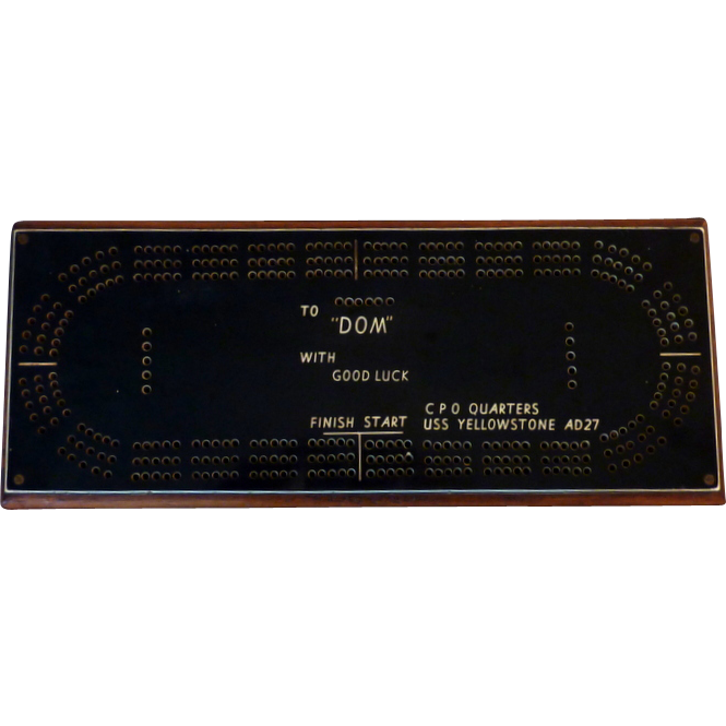 USS Yellowstone AD27 Cribbage Board