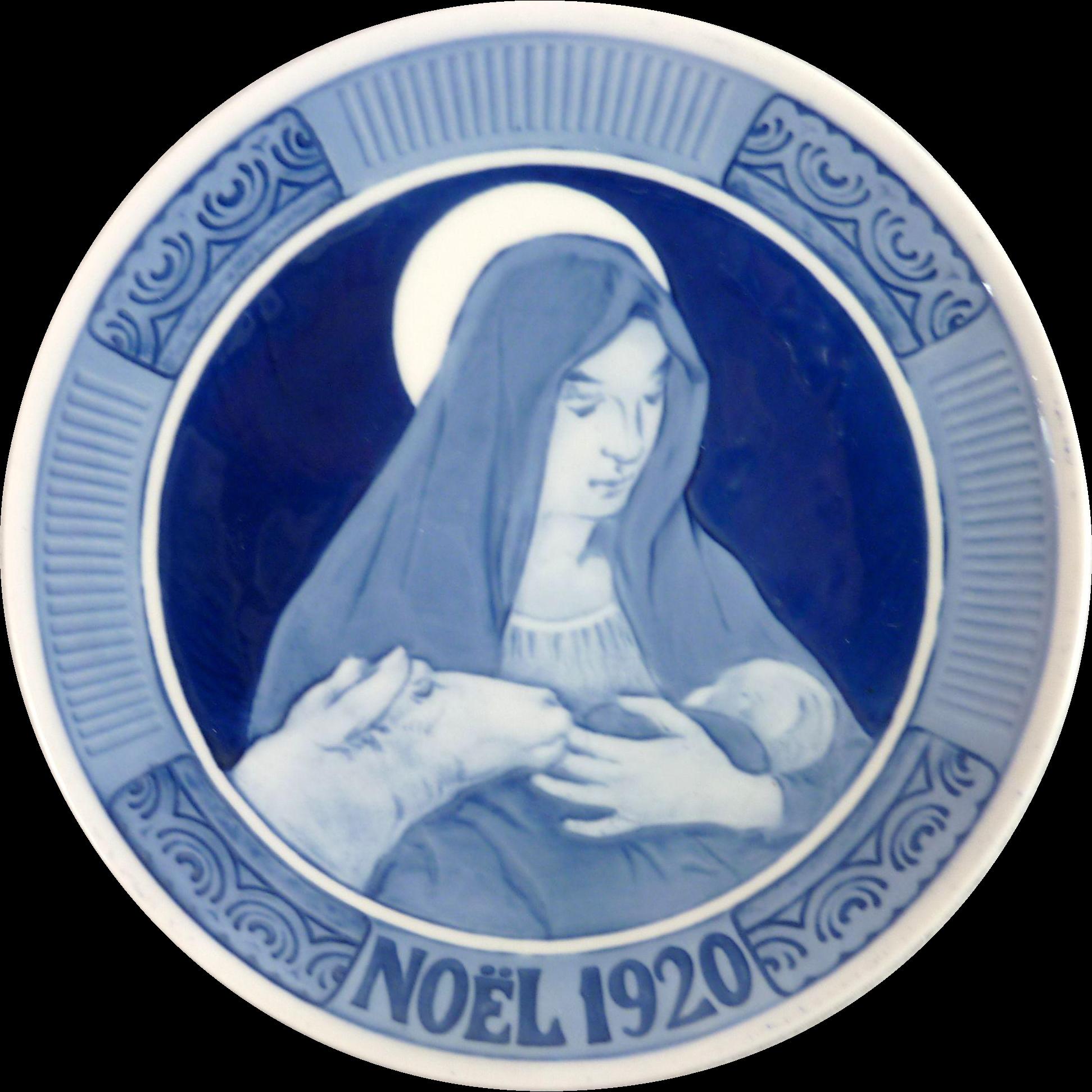 1920 Royal Copenhagen Christmas Plate – Noel