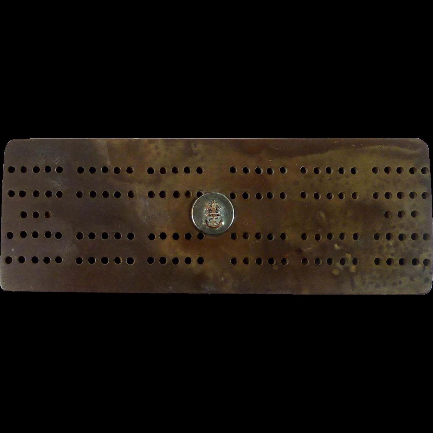 Cribbage Board - British Royal Navy Military Insignia