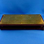 Heavy Bakelite Cribbage Board with Brass Top
