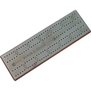Cribbage Board with Polished Steel Top – Byron O. Gooch