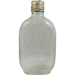 Old Quaker Embossed Bottle with Original Lid