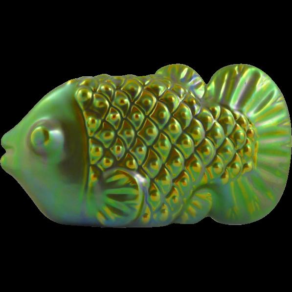Zsolnay Eosin Fish Figurine