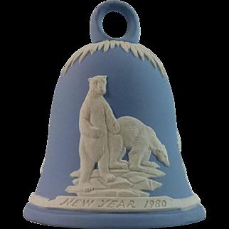 Wedgwood Jasperware Bell with Polar Bears