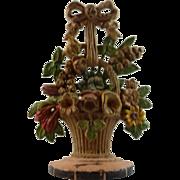 Hubley Cast Iron Doorstop – Lilies of the Valley