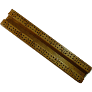Homemade Wooden Cribbage Board with Pegs