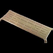 Brass WW2 Navy Cribbage Board - USS Winslow