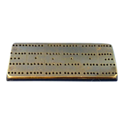 Small Bakelite Cribbage Board with Brass Top